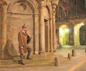 Sherlock Mercat Cross Painting