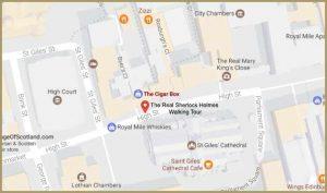 map of walking tour start
