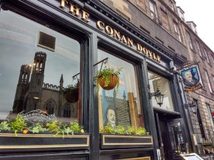 The Conan Doyle Pub Entrance