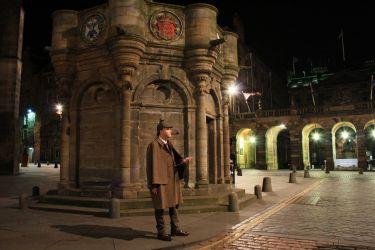 Real Sherlock at The Mercat Cross